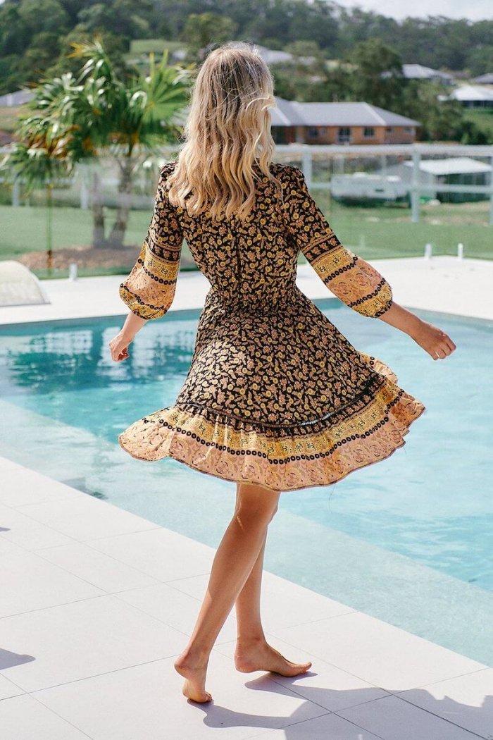 Celine Mini Dress Queen of the Night